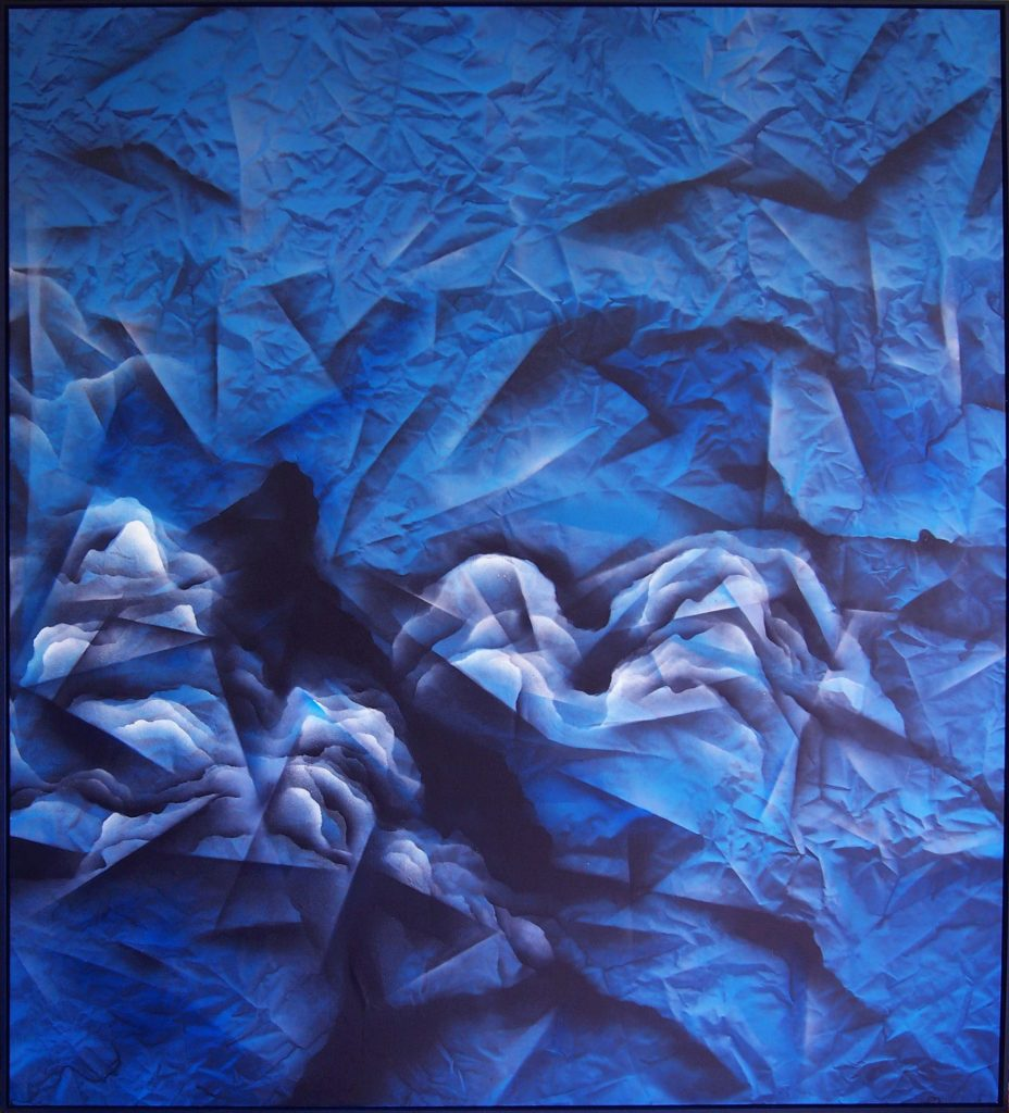 Faizal Yunus, Good Morning Blue II,2020, Enamel, Lacquer and 2k matte finish on canvas, 200 x 180cm .jpg CAMERA